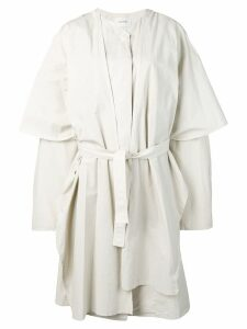Lemaire oversized layered trench coat - White
