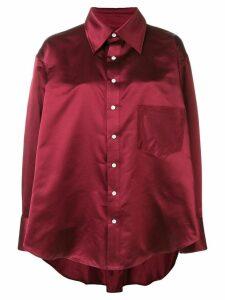 Matthew Adams Dolan oversized draped shirt - Red