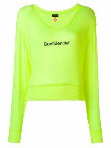 Marcelo Burlon County Of Milan confidencial label jumper - Yellow