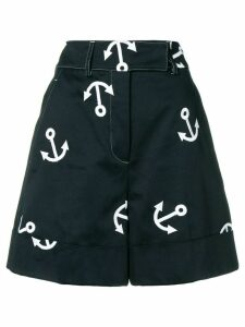Thom Browne Anchor Embroidery Short - Blue