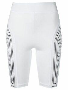 Fendi graphic logo cycling shorts - White