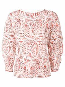 Chloé jacquard effect jumper - Red