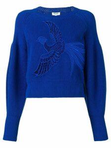 Kenzo bird embroidered sweater - Blue