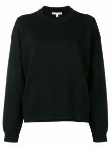 Dagmar long-sleeve fitted sweater - Black