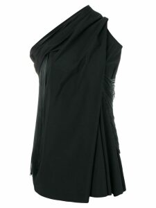 Rick Owens one shoulder blouse - Black