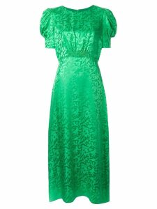 Saloni Bianca jacquard dress - Green