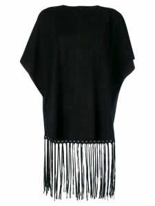 Red Valentino fringe detailed blouse - Black