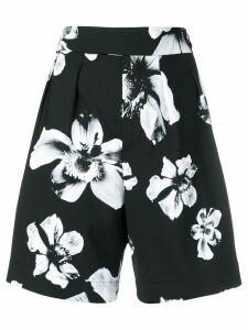 Neil Barrett tailored floral pattern shorts - Black