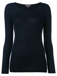 N.Peal cashmere superfine round neck jumper - Blue