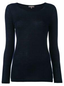 N.Peal cashmere superfine round neck jumper - Blue