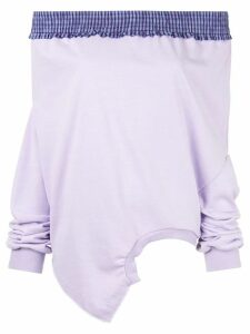 Ground Zero dropped shoulder upside-down sweatshirt - Purple