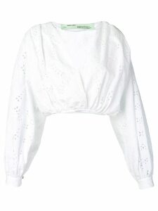 Off-White perforated detail top