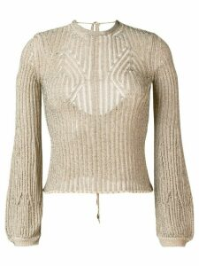 Chloé open back knitted jumper - NEUTRALS