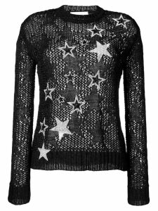 Faith Connexion rhinestone star knit jumper - Black