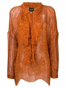 Aspesi floral chiffon blouse - Red