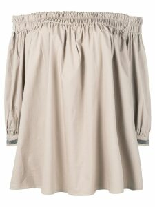 Fabiana Filippi off shoulder blouse - Neutrals
