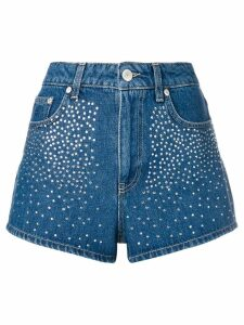 Chiara Ferragni embellished high waisted shorts - Blue