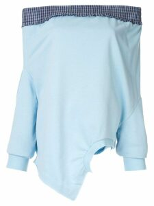 Ground Zero dropped shoulder upside-down sweatshirt - Blue