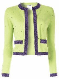 Chanel Pre-Owned Long Sleeve Cardigan - Green