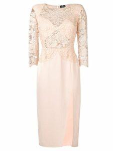 Elisabetta Franchi lace dress - PINK