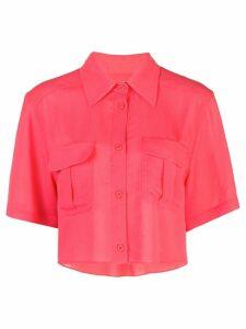 Fleur Du Mal cropped work shirt - Red