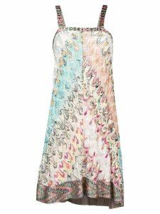 Missoni patterned shift dress - Blue