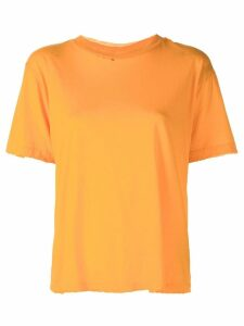 Unravel Project raw edge T-shirt - ORANGE