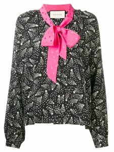 Gucci pussy bow patterned shirt - Black