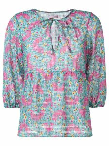 Kristina Ti floral printed blouse - Blue