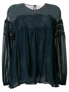 Stella McCartney lace detail blouse - Blue