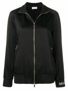 Moncler side striped jogging jacket - Black