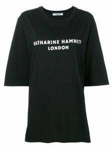 Katharine Hamnett London logo print oversized T-shirt - Black