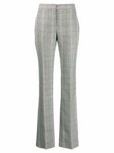 Alexander McQueen contrast check trousers - Black