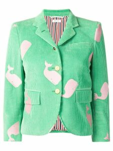 Thom Browne Whale Embroidery Little Boy Jacket - Green