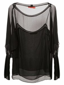 Manning Cartell sheer blouse a - Black