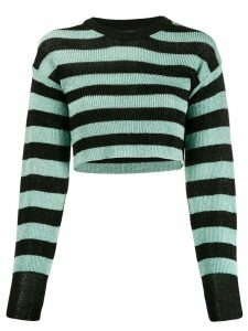 Laneus cropped knit sweater - Green