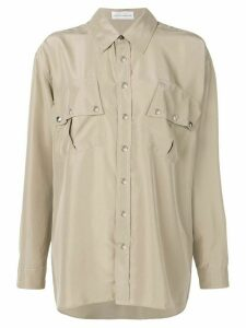 Faith Connexion oversized long-sleeve shirt - NEUTRALS