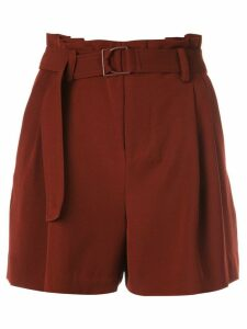 Vince belted pleated shorts - Red