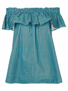 P.A.R.O.S.H. off-shoulder striped blouse - Blue