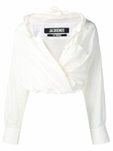 Jacquemus tonal striped wrap shirt - White
