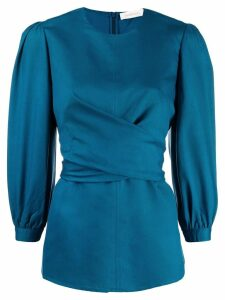 Zimmermann tie-waist blouse - Blue