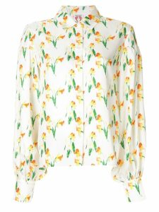 Shrimps Bellatrix puff sleeve blouse - White