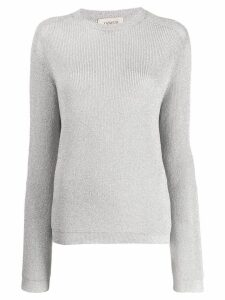 Laneus classic knit sweater - SILVER