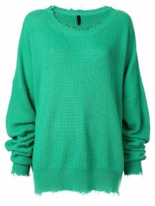 Unravel Project oversized distressed jumper - Green