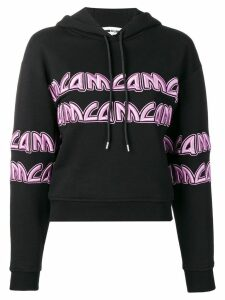 McQ Alexander McQueen McQ Metal cropped hoodie - Black