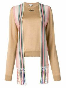 Loewe scarf jumper - Brown