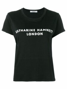 Katharine Hamnett London logo print T-shirt - Black