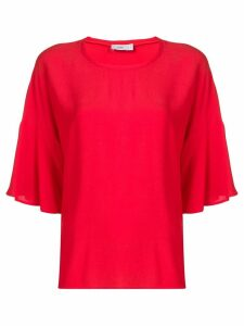 Closed oversized blouse - Red