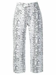 Alexander Wang python-print jeans - White