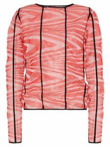 ASAI Wave Gleam tie-dye top - Red
